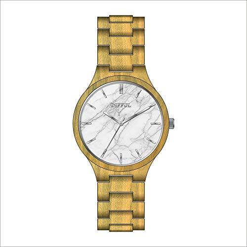 # klockor högklassig hälsa kvarts träklocka avslappnad kvarts klocka, vattentät, trä, den bästa gåvan för äldre armbandsur a