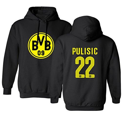 Borussia Dortmund Christian Pulisic Soccer Football Jersey Style Men's Hoodie Sweatshirt – DiZiSports Store