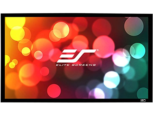 Elite Screens Sable Frame, 120-inch 16:9, Sound Transparent Fixed Frame Projection Projector Screen, ER120WH1-A1080P2