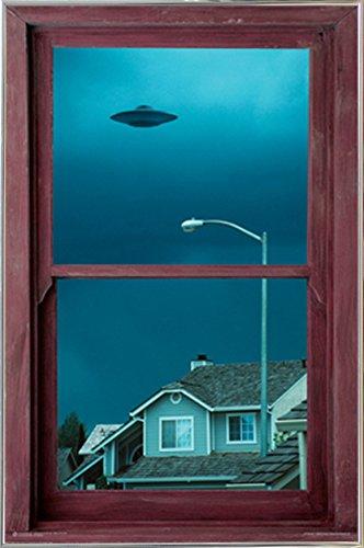 UFO Window Poster in a Silver Metal Frame  04133-PSA010740