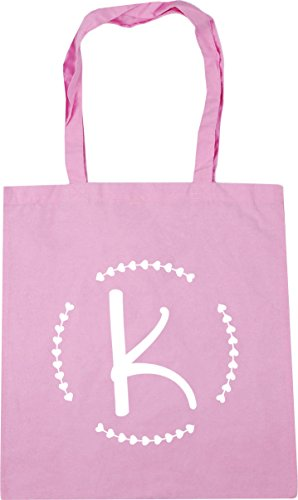 Pink 10 Initial Classic Gym Tote K Bag Beach Shopping litres 42cm HippoWarehouse x38cm FxOf7W