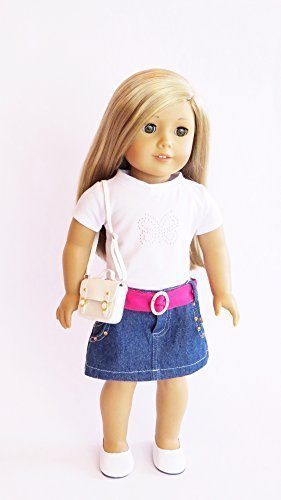 18 inch Doll Clothes - 5-Piece Casual Outfit with Purse Fits