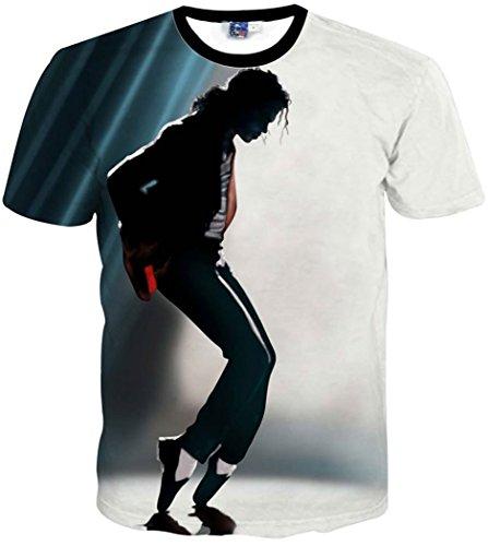 Chiclook Cool Clothing Men/Women T Shirt Print Michael Jackson 3D T-Shirt -