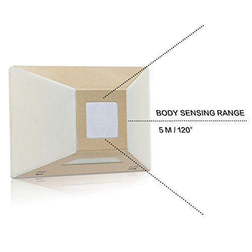 YINGHAO [2 PACK] Superb Battery Powered Motion Sensor Night Light/Solid Firm Stainless Steel/PIR Sensor Long Lasting Light for Bedroom Hallway Closet Nursery Kitchen Bath Kids Baby (Sliver) by YINGHAO (Image #4)
