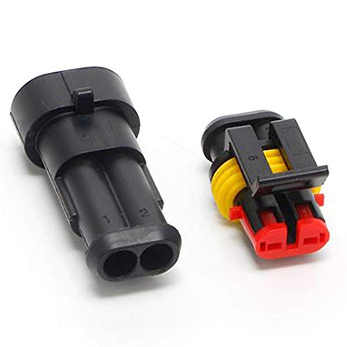 yyuezhi 2 Pole Plug Connector Waterproof Car Waterproof Connector Nylon Housing Electrical Connectors Car Electrical…