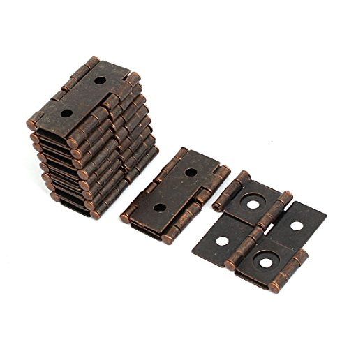 uxcell 47mmx45mmx5mm Antique Style Double Acting Folding Screen Hinge Copper Tone 10pcs by uxcell