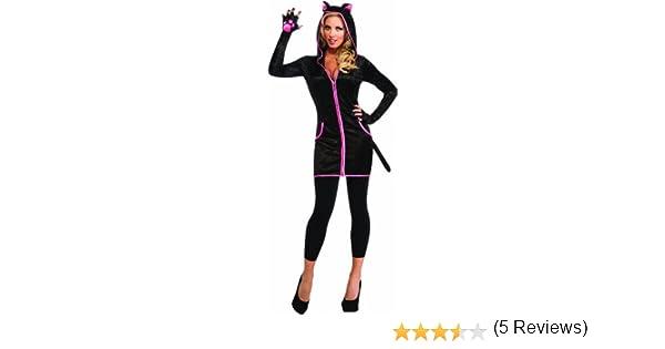 Disfraz de gata para mujer, gatita con sudadera y capucha, Talla ...