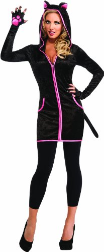 [Rubie's Costume Halloween Sensations Urban Kitty Costume, Black, Standard] (Sexy Halloween Cost)