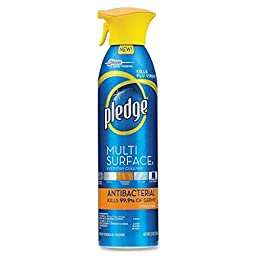 pledge Multi-surface Spray Antibacterial Wood Polish, Citrus, 9.7 Ounce (Pack of 6)