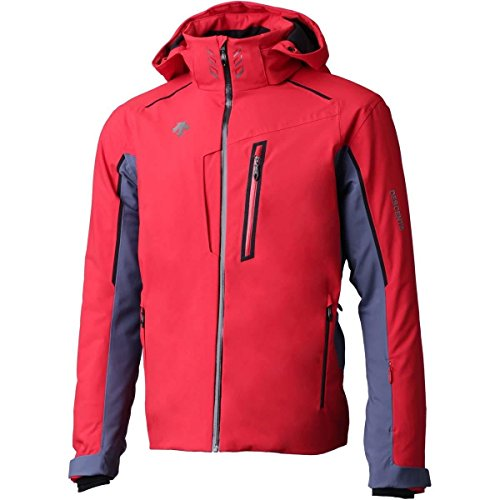 Descente Mens Terro Jacket (Electric Red/Midnight Shadow/Black / X-Large)