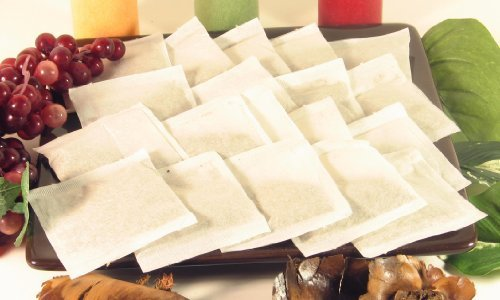 500 pcs Empty Teabags Heat Seal Filter Paper Herb Loose 2.5 x 2.75 Tea Bags
