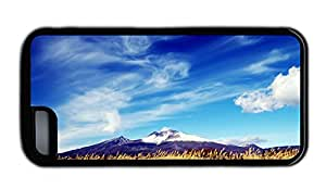 Funny iphone 5C underwater covers Mountains fields blue sky white clouds TPU Black for Apple iPhone 5C