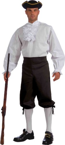 Forum Novelties Ruffled Vampire Costume Shirt, White, One (Pirate King Adult Costumes)