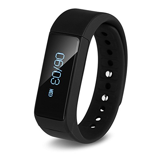 LQM I5 Plus Smart Bracelet Bluetooth 4.0 Touch Screen Fitness Tracker Health Sport Wristband Sleep Monitor TPU Material (Black)