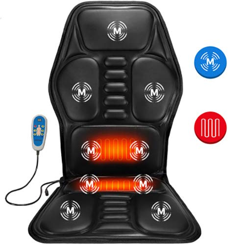 Massage Car Seat Cushion Heat,Car Heated Seat Cushion,Back Massager Car Use,Body Benefits Heated Massaging ()