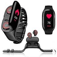 M1 Akıllı Saat Ve Bluetooth Kulaklık Nabız Monitörü Kalp Hızı Aynı Gün Hızlı Ve Ücretsiz Kargo