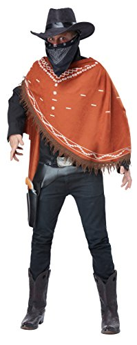 California Costumes Men's Gruesome Outlaw Costume, Brown, One Size - The Western Outlaw Hat