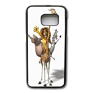 Generic Fashion Hard Back Case Cover Fit for Samsung Galaxy S7 Cell Phone Case black The Penguins of Madagascar with Free Tempered Glass Screen Protector TUB-1562017