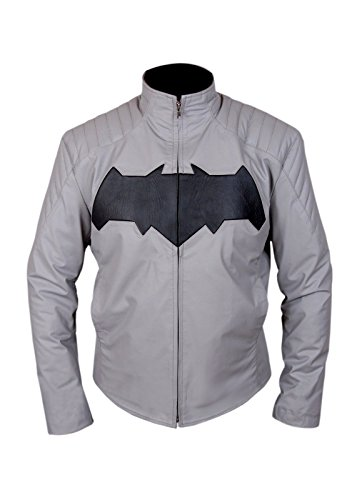 Leatherly Wayne Justice Knight Arkham Giacca Bruce Dawn Pelle Of Uomo Batman rr7Sq