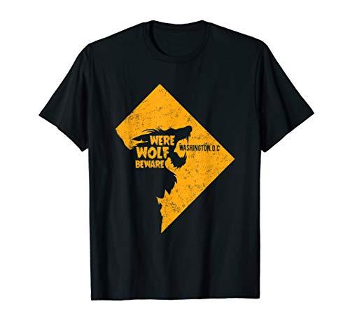 Washington DC Werewolf Beware T-Shirt Cosplay Halloween Oct