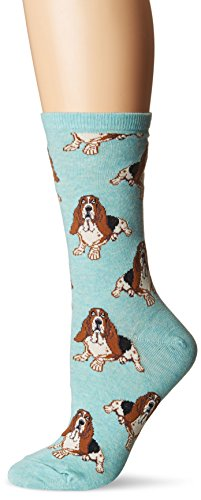 "Socksmith Womens' Novelty Crew Socks ""Nothing But a Hound Dog"",Heather Mint,One Size"