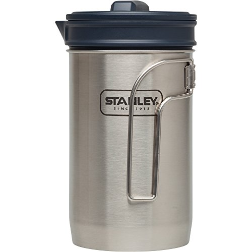 Stanley Stan Adv 32oz Coff Press ss Cook + Brew, Stainless Steel (Press Titanium Coffee)