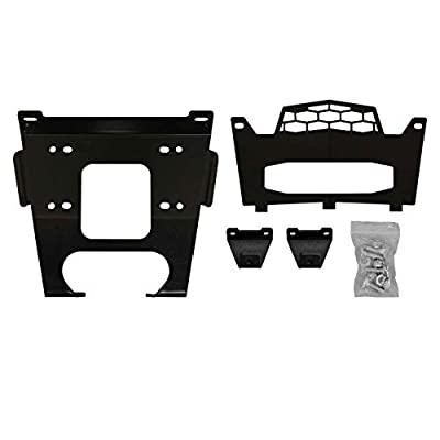 SuperATV Heavy Duty Winch Mounting Plate for Polaris RZR 900/900 S / 4 900 - (2015+) - For Machines Manufactured After 9/1/2014: Automotive