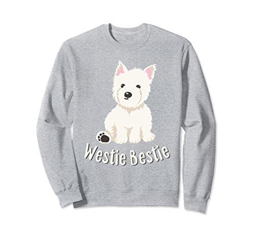 (Unisex Westie Bestie West Highland White Terrier Sweatshirt Large Heather Grey)