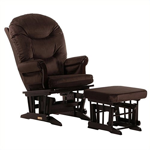 Dutailier Sleigh Glider and Ottoman Combo, Espresso/Chocolate