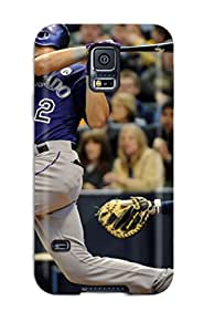 Hot 5333595K239908524 colorado rockies MLB Sports & Colleges best Samsung Galaxy S5 cases