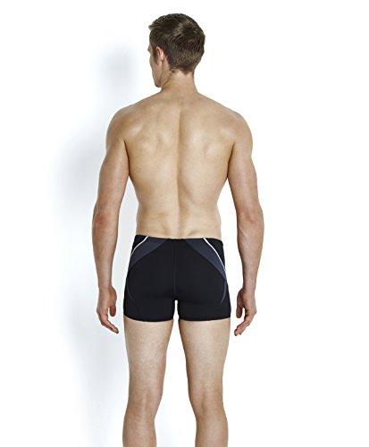 Speedo Fit Splice Short de Bain Homme, Noir, FR : 32 (Taille Fabricant : 32)