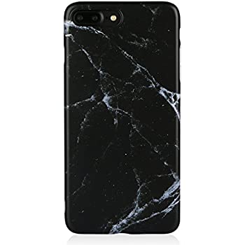 Marble IPhone 7 8 Plus Case Black For MenDICHEER Ultra Thin Anti