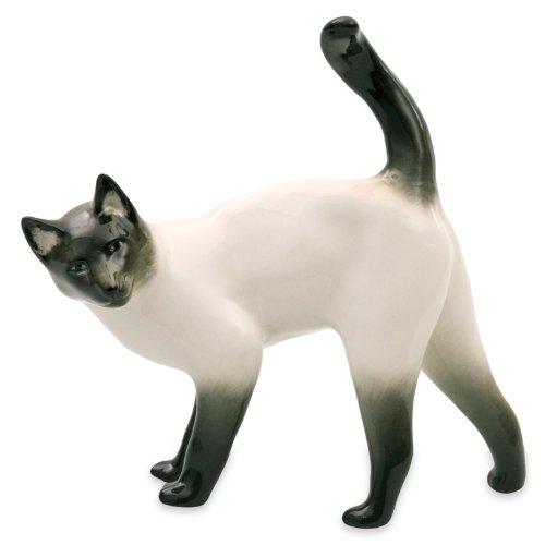 - Imperial / Lomonosov Porcelain Figurine Siamese Cat