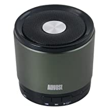 August MS425 Portable Bluetooth Speaker w/ Microphone–Powerful Wireless Speaker & Cell Phone Hands Free Kit – For w/ iPhones, Samsung, Galaxy,Nokia, HTC, Blackberry, LG, Nexus, iPad, Tablets, Mobile Phones, Smartphones, PC's, Laptops etc (Green)