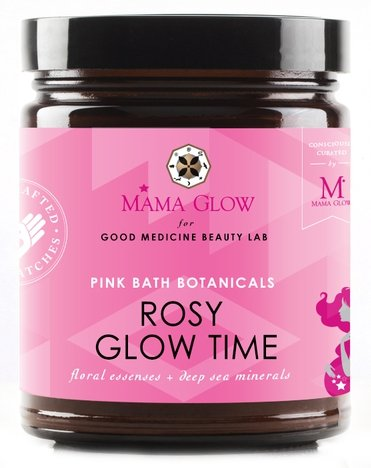Mama Glow for Good Medicine Beauty Lab ROSY GLOW TIME / pink bath botanicals -