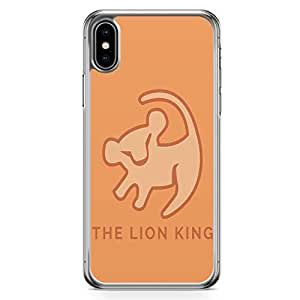 Loud Universe The Lion King Classic iPhone XS Max Case Premitive Logo Lion King iPhone XS Max Cover with Transparent Edges
