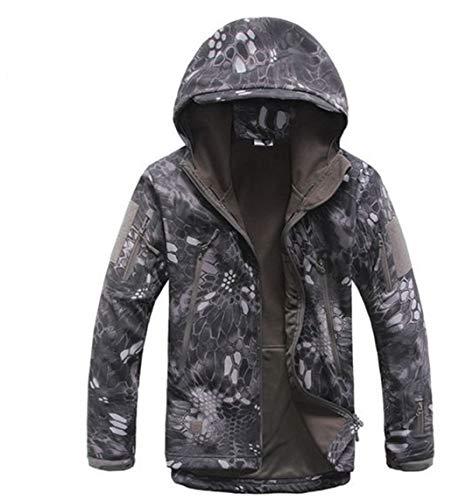 Weiyouyo Shell Militar Impermeable Forro Actualizaron Soft Al Camuflaje Hombres Chaquetas Libre Black Aire Color Tactical Polar Python Los rqxz0vwr