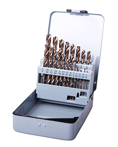 Cobalt Bit Set - 21PCS Cobalt Drill Group sets of Bits Set Professional HSS M35 Twist Metal Tools