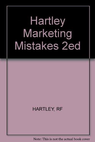 Hartley Marketing Mistakes 2ed