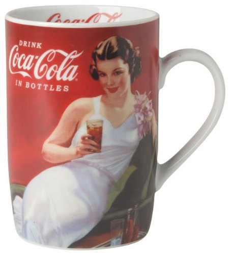 Coca-Cola Presented by Now Designs Mug in a Box, Evening Gown Coke Girl