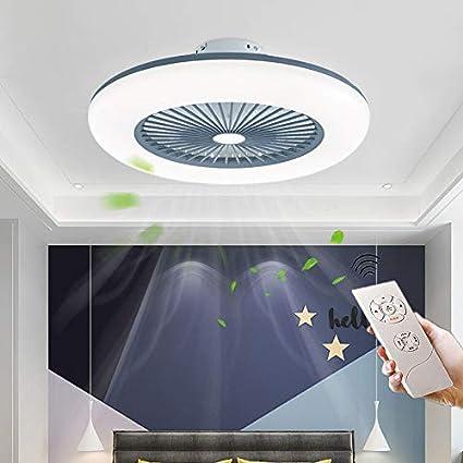 CAGYMJ Ventilador De Techo con Iluminación Ventilador De Techo LED Luz Velocidad del Viento Ajustable Control Remoto,Ultra Silencioso Ventilador Luces De Ventilador De Dormitorio,Gris