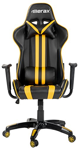 41V4D6P0AUL - Merax Ergonomic High Back Reclining Chair