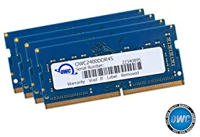 OWC 32GB (4 x 8GB) 2400MHZ DDR4 SO-DIMM PC4-19200 Memory Upgrade for 2017 iMac 27 inch with Retina 5K Display, (OWC2400DDR4S32S)