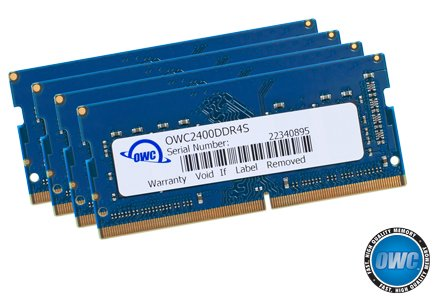 OWC 64GB (4 x 16GB) 2400MHZ DDR4 SO-DIMM PC4-19200 Memory Upgrade For 2017 iMac 27 inch with Retina 5K display by OWC