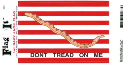 (1st Navy Jack flag decal for auto, truck or boat)
