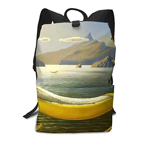 (Travel Backpack Business Daypack School Bag Bananas Print Large Compartment College Computer Bag Casual Rucksack For Women Men Hiking Camping Outdoor)