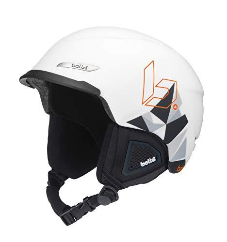- Bolle Beat Ski Helmet, Matte White Mountains, 54-58cm