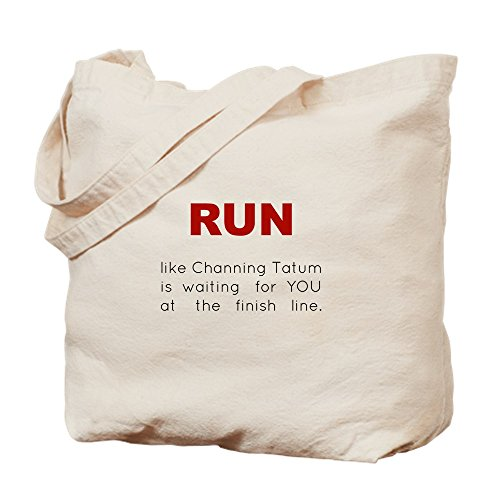 Running Bag Bag Tatum Canvas Shopping Natural Cafepress For Cloth Tote Channing UZRw4q