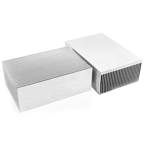 DWZ 1pc Large Big Aluminum Heatsink Heat Sink Radiator for Led High Power Amplifier by LOCHI