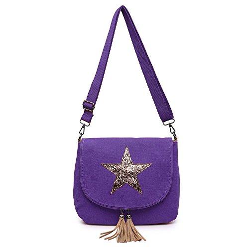Bag Purple Womens Body Bag Ladies Cross Celebrity Designer Casual Style vBq8vPz